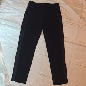Victoria Secret black pants with silk stripe sz 0